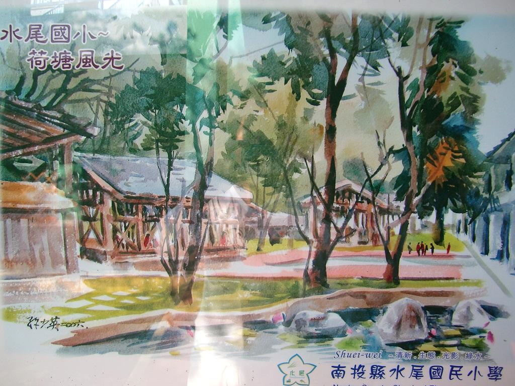 校园建筑手绘水彩